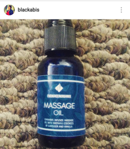 Marijuana Infused Massage oil